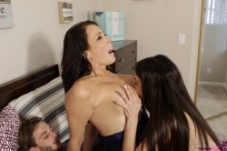 My sister sucks our mother's tits while i fuck our mom